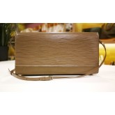 LOUIS VUITTON Honfleur Clutch Epi Leather