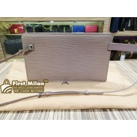 LOUIS VUITTON Rochelle Pouch Lilac Epi Leather