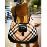 BURBERRY Nova Check Flap Handbag