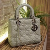 CHRISTIAN DIOR Lady Dior Light Green In Lambskin