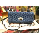 MIU MIU Shoulder Crystal Small Matelasse Denim Bag