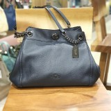 COACH Turn Lock Eddie Pebble Leather Shoulder Bag