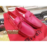 TOD'S For Ferrari Gommino Driving Shoes In Red Suede (Size:7)