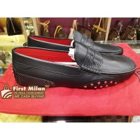 TOD'S For Ferrari Driving Shoes In Black Leather (Size:7)