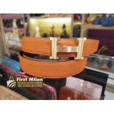 HERMES Togo Leather H Buckle Reversible 32 MM (Size:95)