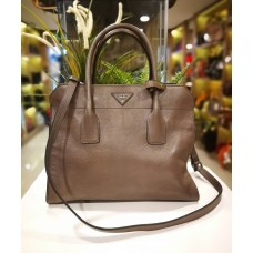 PRADA Glace Calf Leather Tote Bag