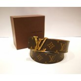 LOUIS VUITTON Monogram Canvas Initials Belt (Size:85/34)