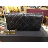 CHANEL Classic Quilted Caviar Flap Wallet
