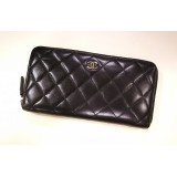 CHANEL Zippy Wallet Black Lambskin