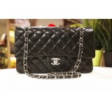 CHANEL Lambskin Medium Flap Bag In SHW