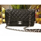 CHANEL Black Caviar Medium Flap