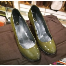 GUCCI Patent Leather Shoes With GG Hardware (Size:36)