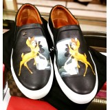 GIVENCHY Black Classic Disney Bambi Leather Skate Shoes (S:43)