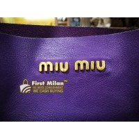 MIU MIU Vitello Shopping Bag