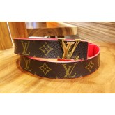 LOUIS VUITTON Monogram Initiales Reversible Belt (S:80/32)
