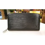 LOUIS VUITTON Epi Leather Black Zippy Wallet