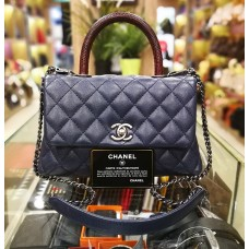 CHANEL Small Calfskin Flap Bag With Top Handle