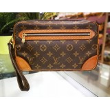 LOUIS VUITTON Monogram Pochette Marly Dragonne Clutch