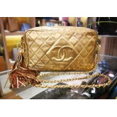 CHANEL Classic Vintage Leather Tassel Bag