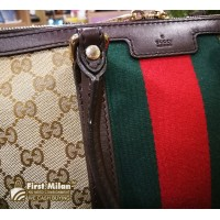 GUCCI Vintage Web Medium Top Handle Bag