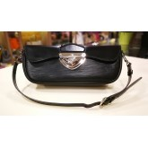 LOUIS VUITTON Epi Leather Black Montaigne Clutch