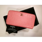 CHANEL Camellia Zip Around Wallet