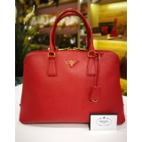 PRADA Saffiano Lux Vernice Top Handle Bag