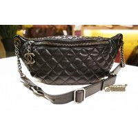 CHANEL Lambskin Quilted Banane Waist Bag