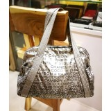 CHANEL Metallic Gray 31 RUE Cambon Nylon Tote