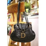CHRISTIAN DIOR Cannage Flap Shoulder Bag