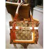 LOUIS VUITTON Monogram Tisse Rayures PM Tote