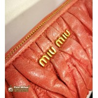 MIU MIU Matelasse Leather Zipper Clutch