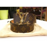 LOUIS VUITTON Monogram Initials Belt (S:80/32)