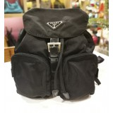 PRADA Black Tessuto Nylon Backpack