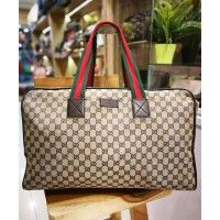 GUCCI GG Canvas Carryall Duffle Bag