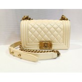 CHANEL Small Boy Flap In Caviar
