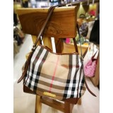 BURBERRY Small House Check Canterbury Tote