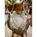 BOTTEGA Veneta Metallic Cervo Illusion Hobo