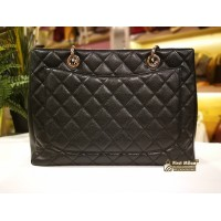 CHANEL Caviar Grand Shopping Tote SHW