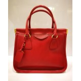 PRADA Saffiano Leather Lux Frame Bag