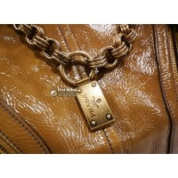 PRADA Chain Link Tote Vitello Shine