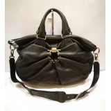 SALVATORE FERRAGAMO Gancini Tote Two Ways Leather Blk