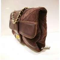 CHANEL Mademoiselle Union Jack PPl Suede Leather Tote