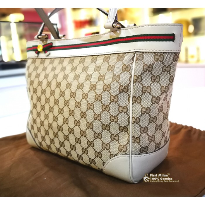ef630be034f0 GUCCI Mayfair Bow Detail Tote Bag