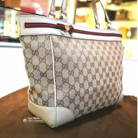 GUCCI Mayfair Bow Detail Tote Bag