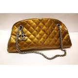 CHANEL Quilted Patent Leather Madamoiselle Bowling