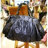 GUCCI Leather Medium Galaxy Satchel Blue