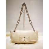 CHANEL Calfskin Flap Bag With Chain Strap