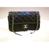 CHANEL Two Tone Medium Lambskin Double Flap