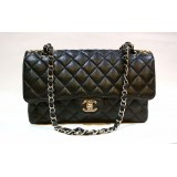 CHANEL Caviar Medium Flap Bag In SHW